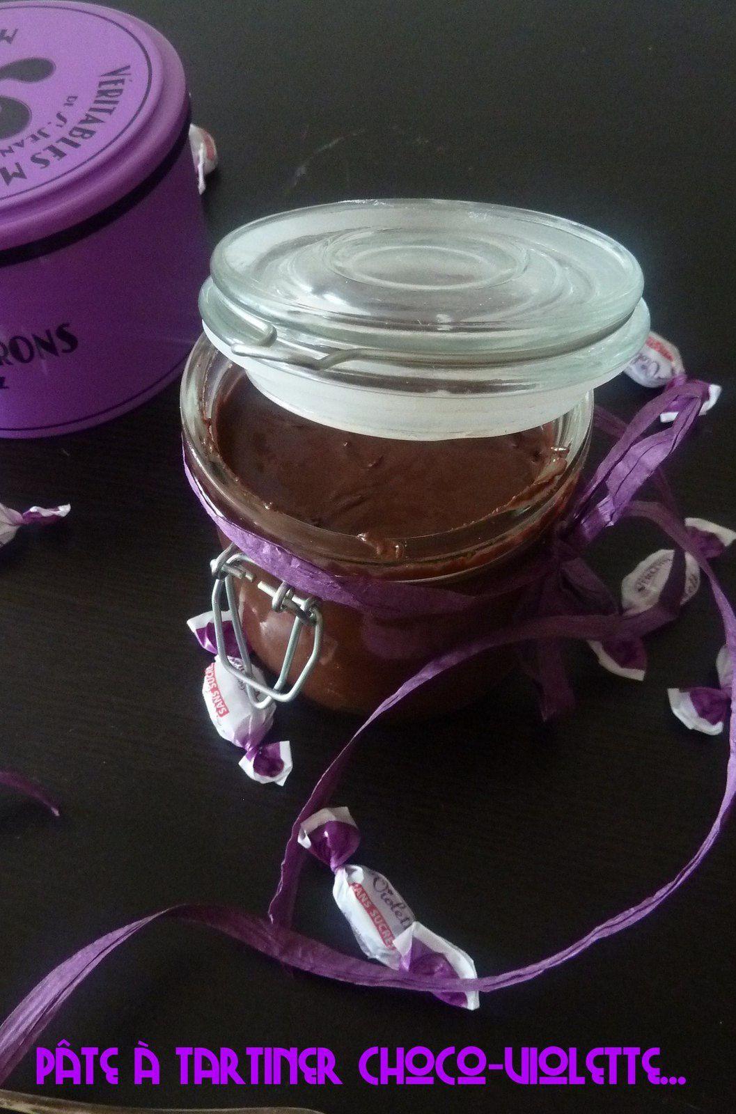 Pate à tartiner chocolat violette