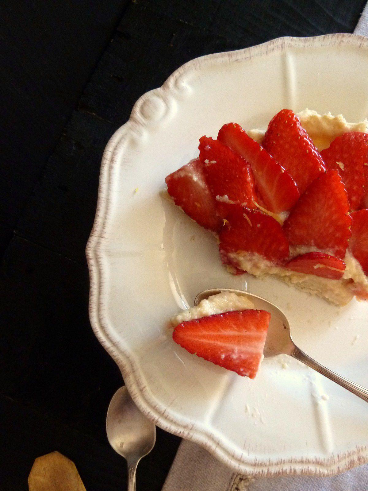 Tarte aux fraises et à la vanille