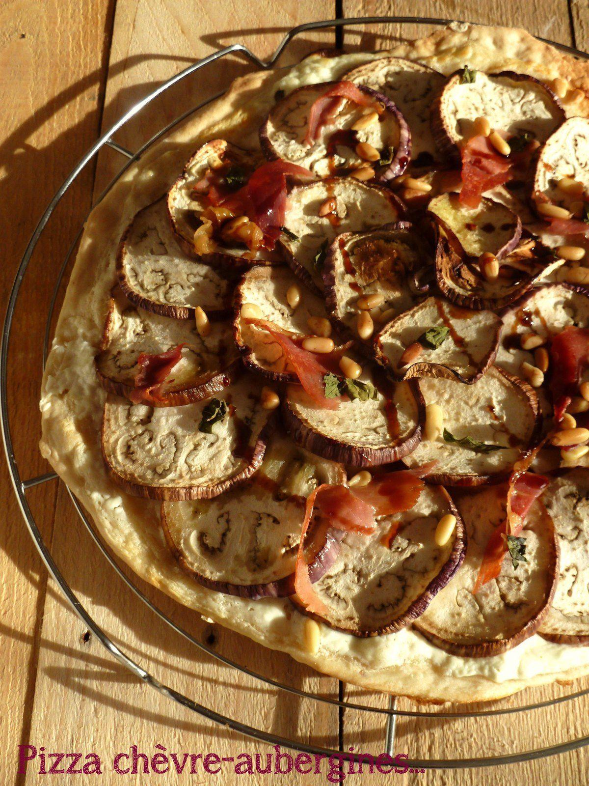 Pizza aubergine-chèvre
