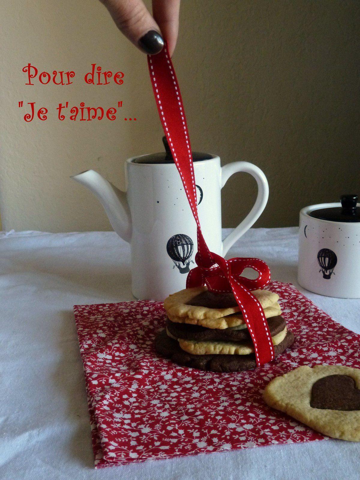 """Des cookies chocolat-vanille pour dire """"je t'aime"""""""