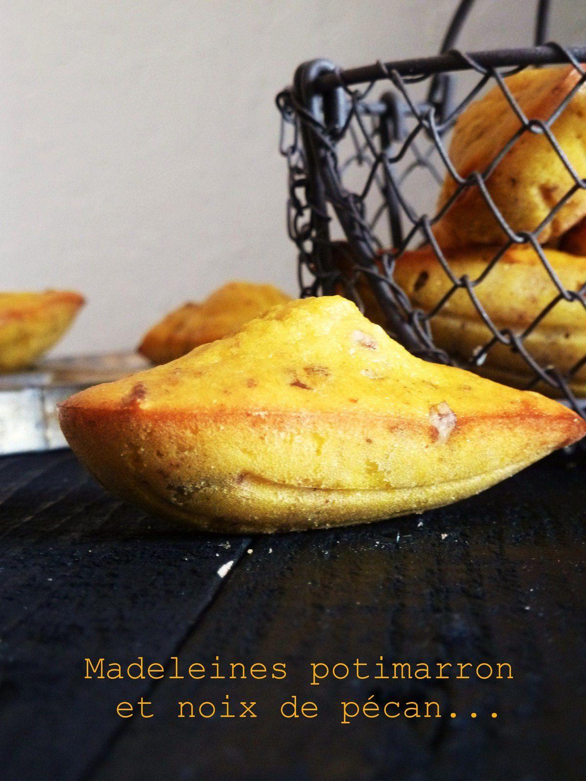 Madeleines légères au potimarron et noix de pécan