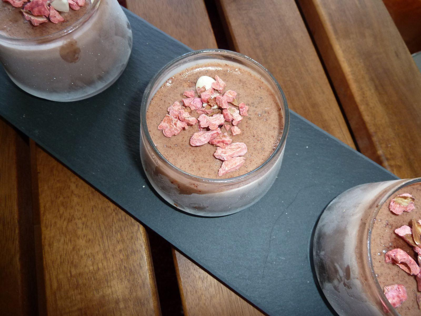 verrines glacées chocolat au mascarpone