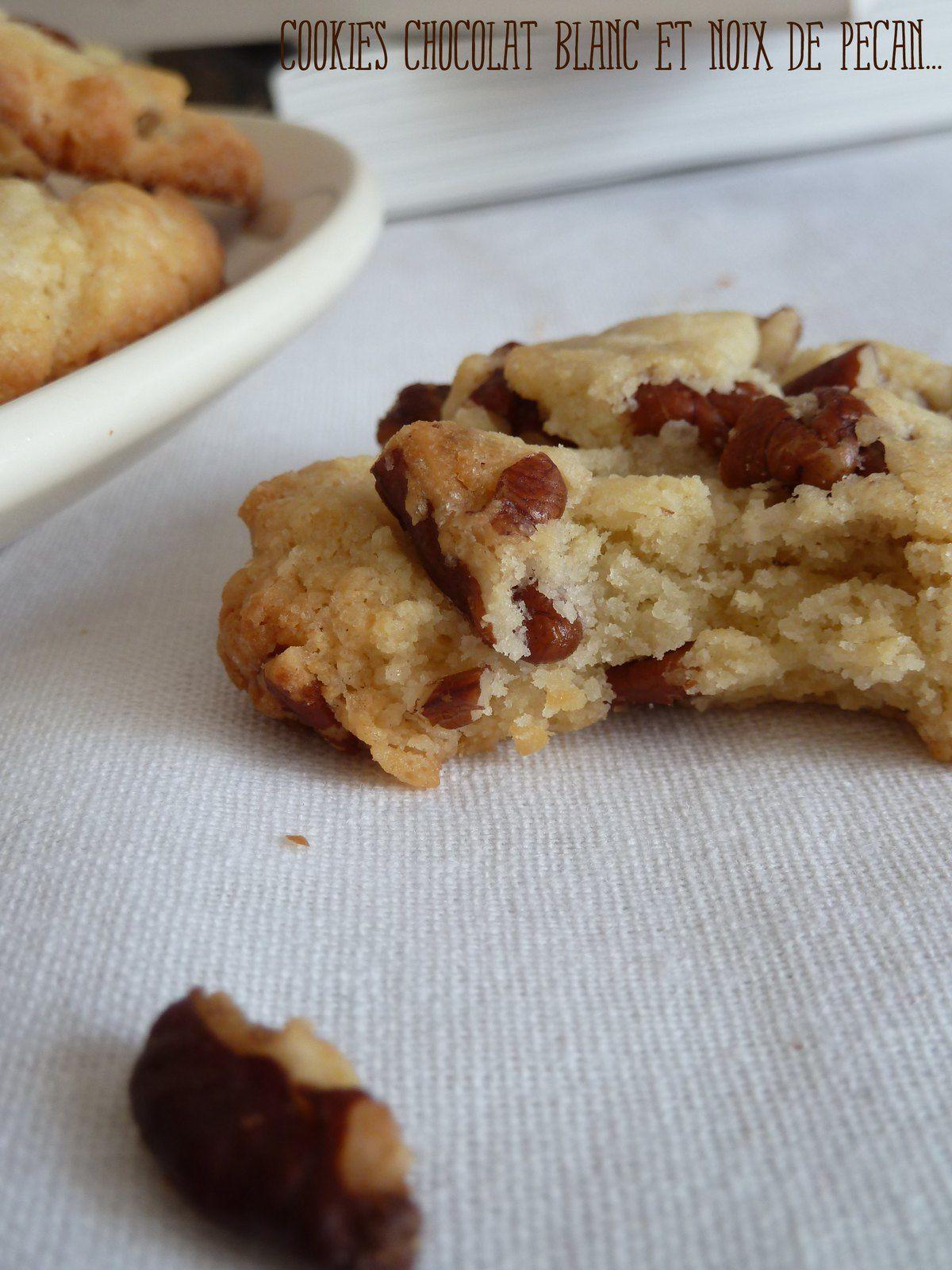 Cookies chocolat blanc et noix de pécan