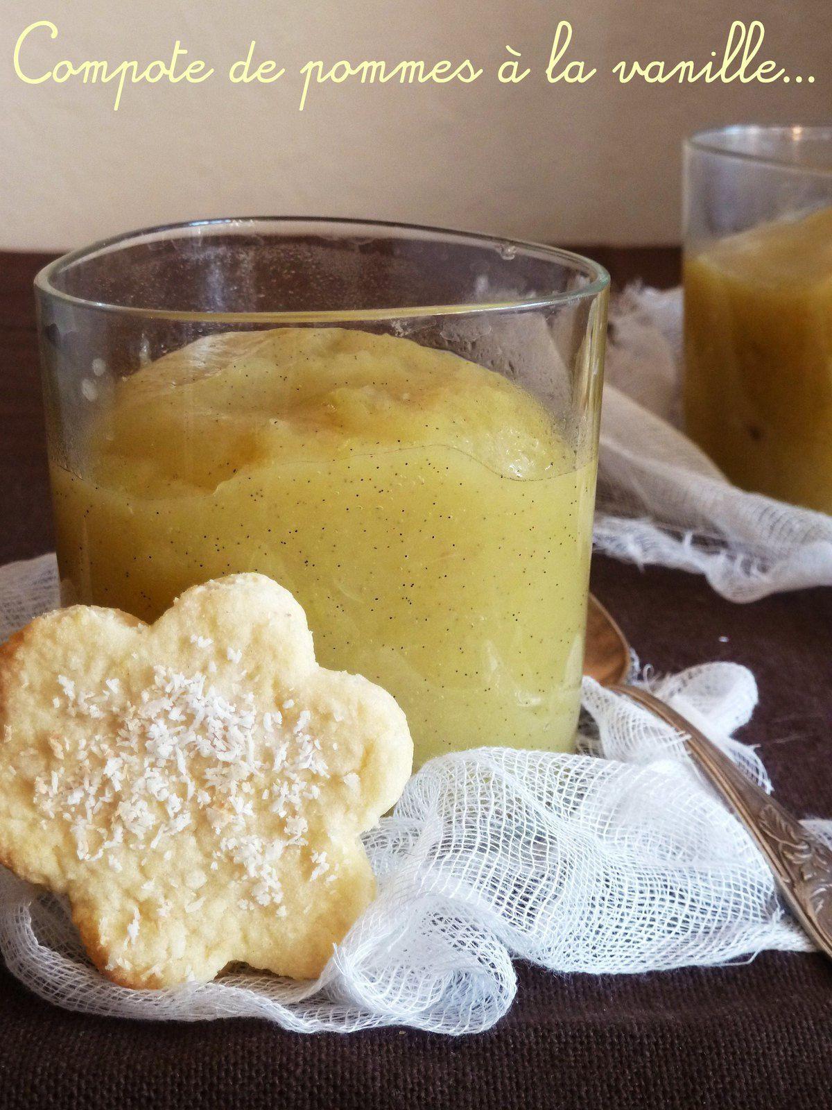 Compote de pommes carmélisées à la vanille