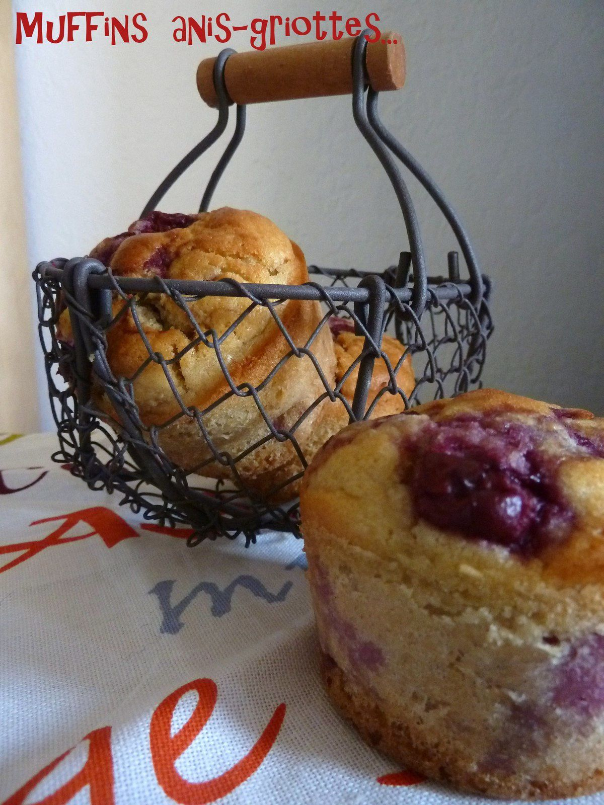 Muffins cerise-anis
