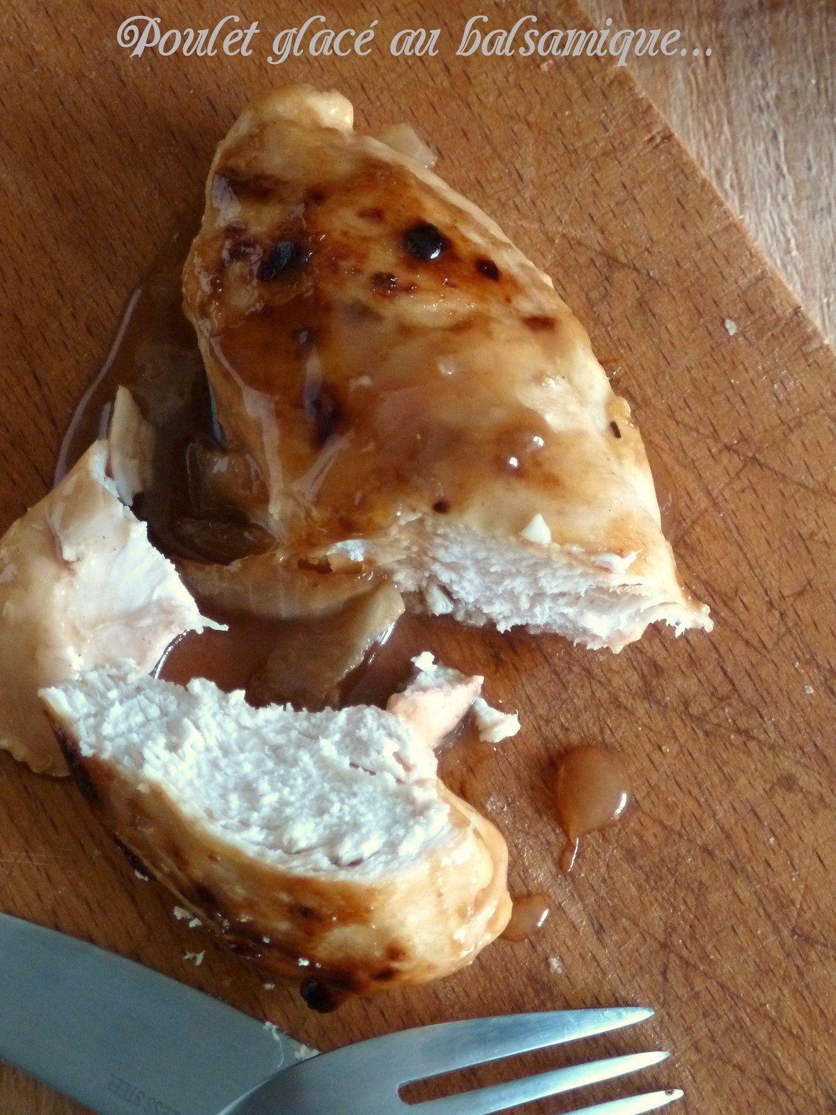 Poulet glacé au vinaigre balsamique