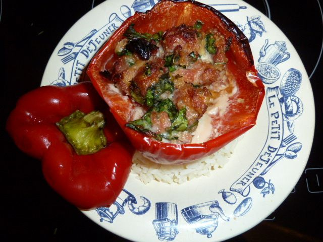 Farce pour légumes épinards-tomates séchées