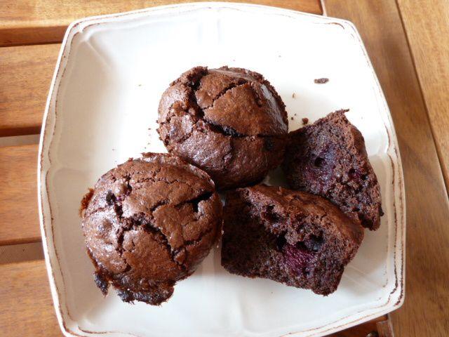 Moelleux fondant chocolat-fruits rouges