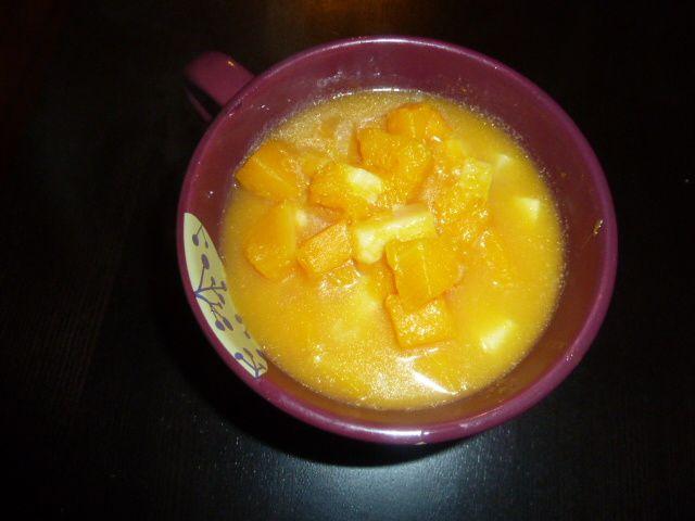 Soupe de butternut au beaufort