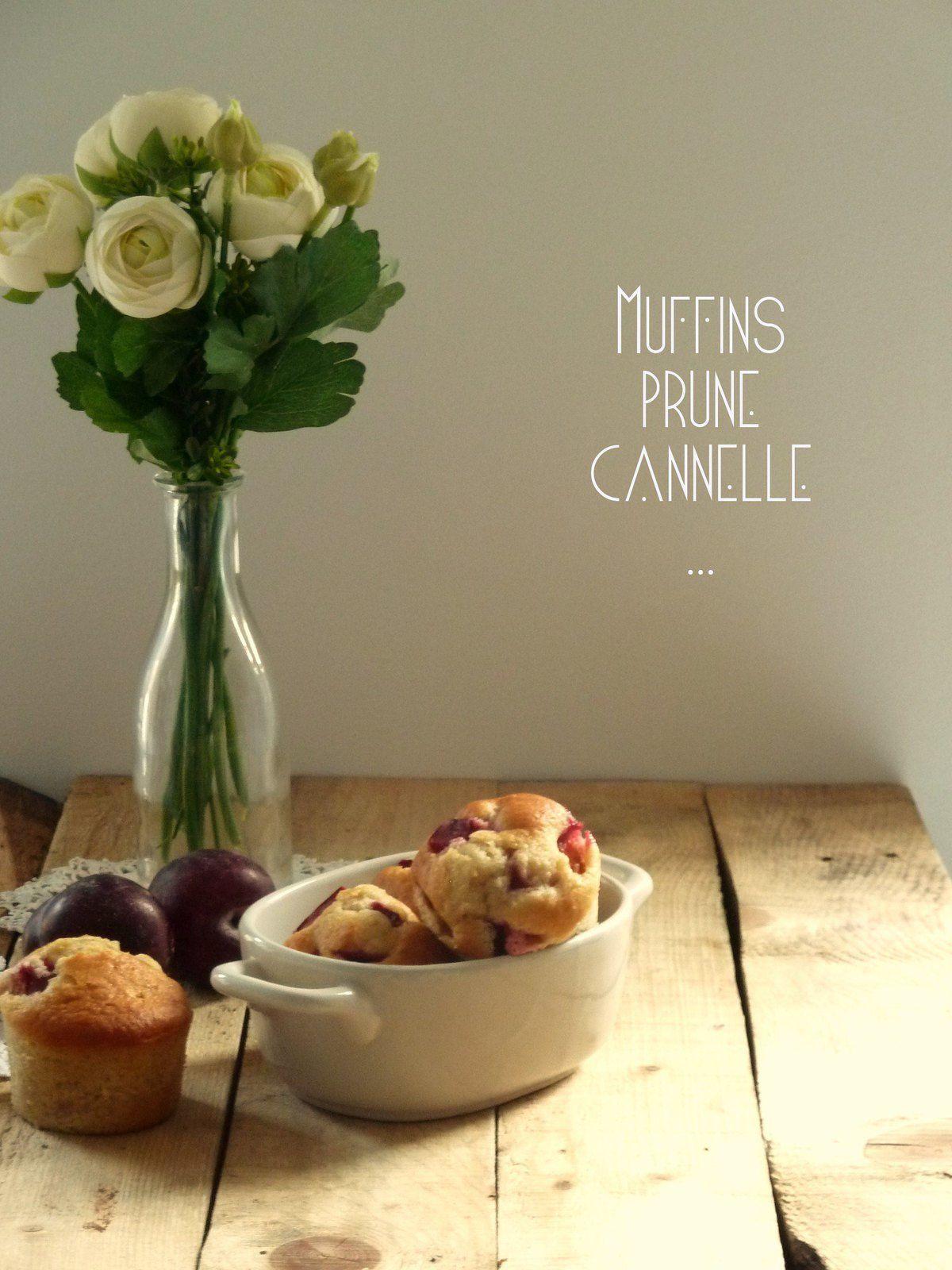 Muffins aux prunes et à la cannelle