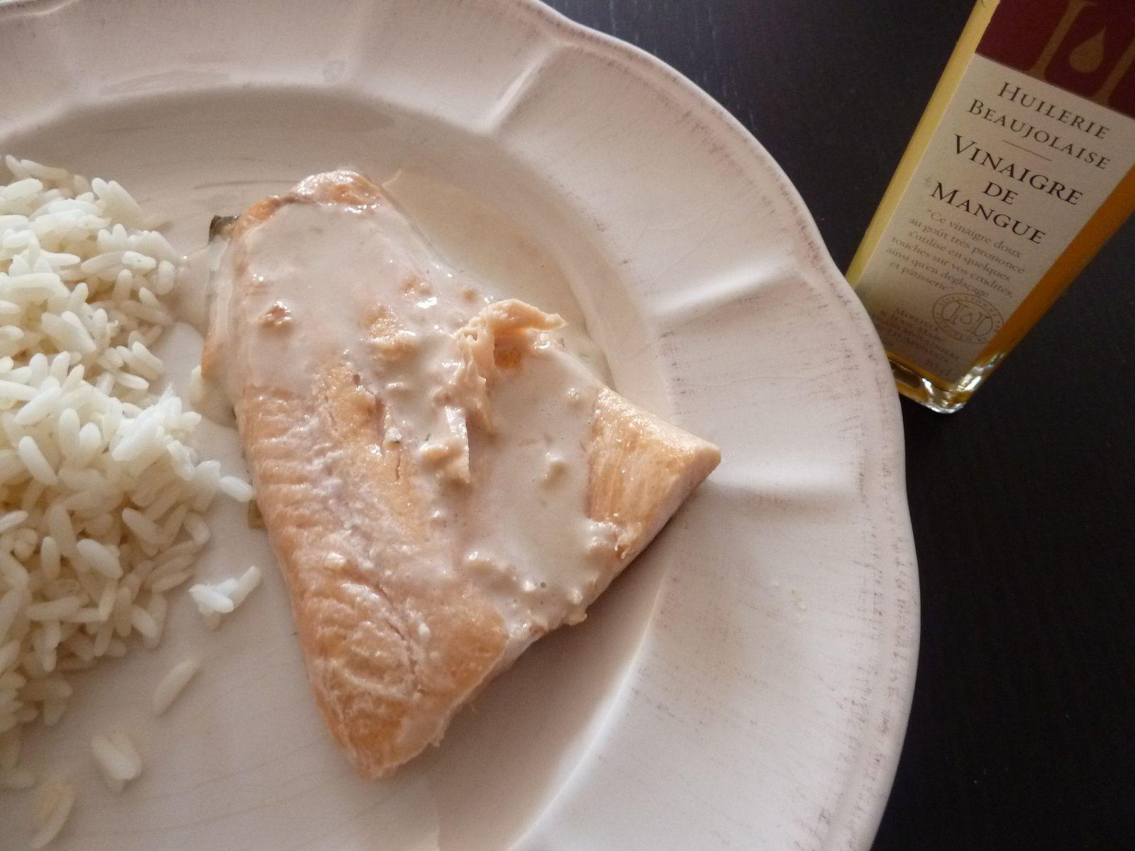 Filet de truite au vinaigre de mangue