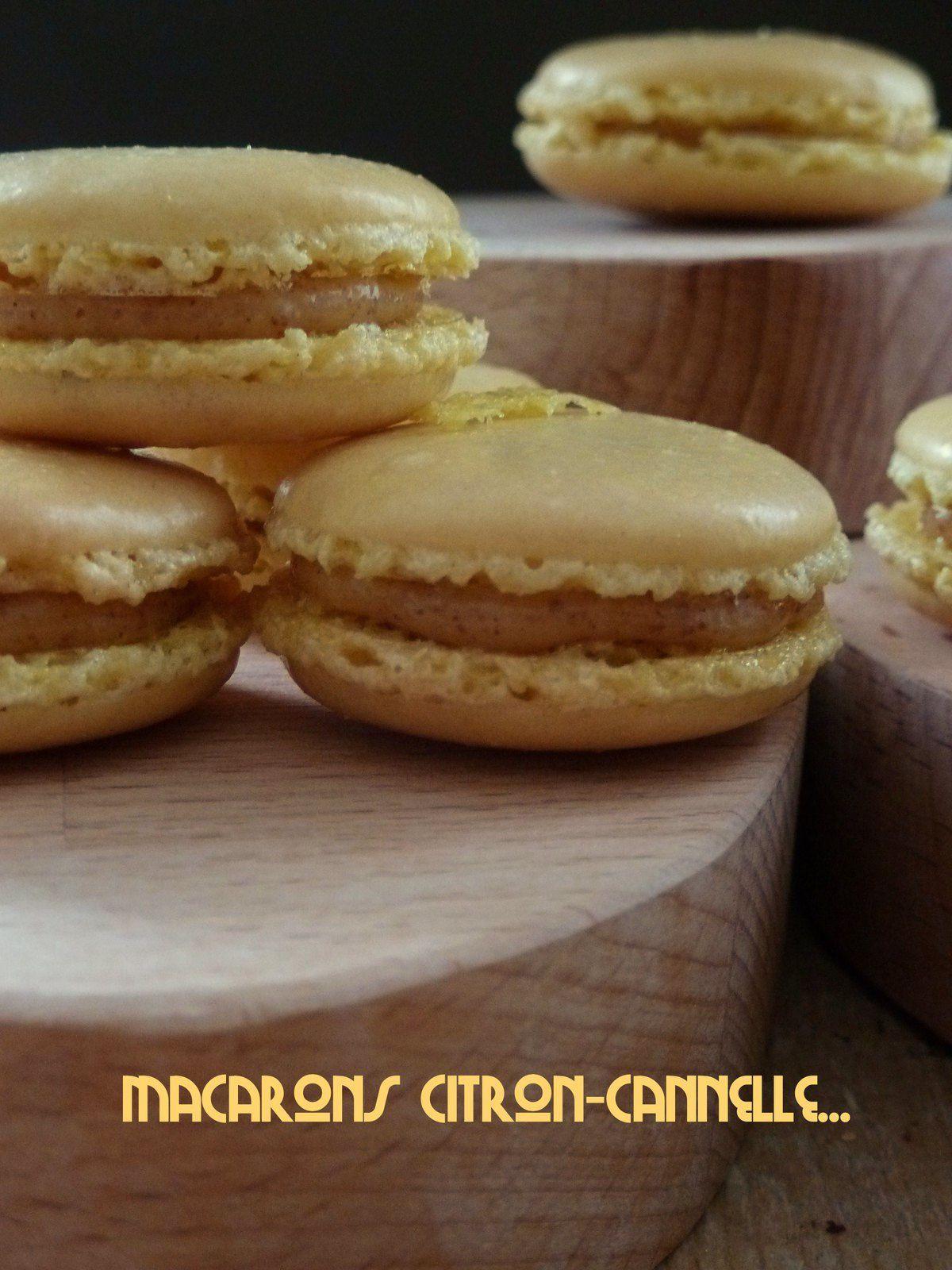 Macaron citron-cannelle