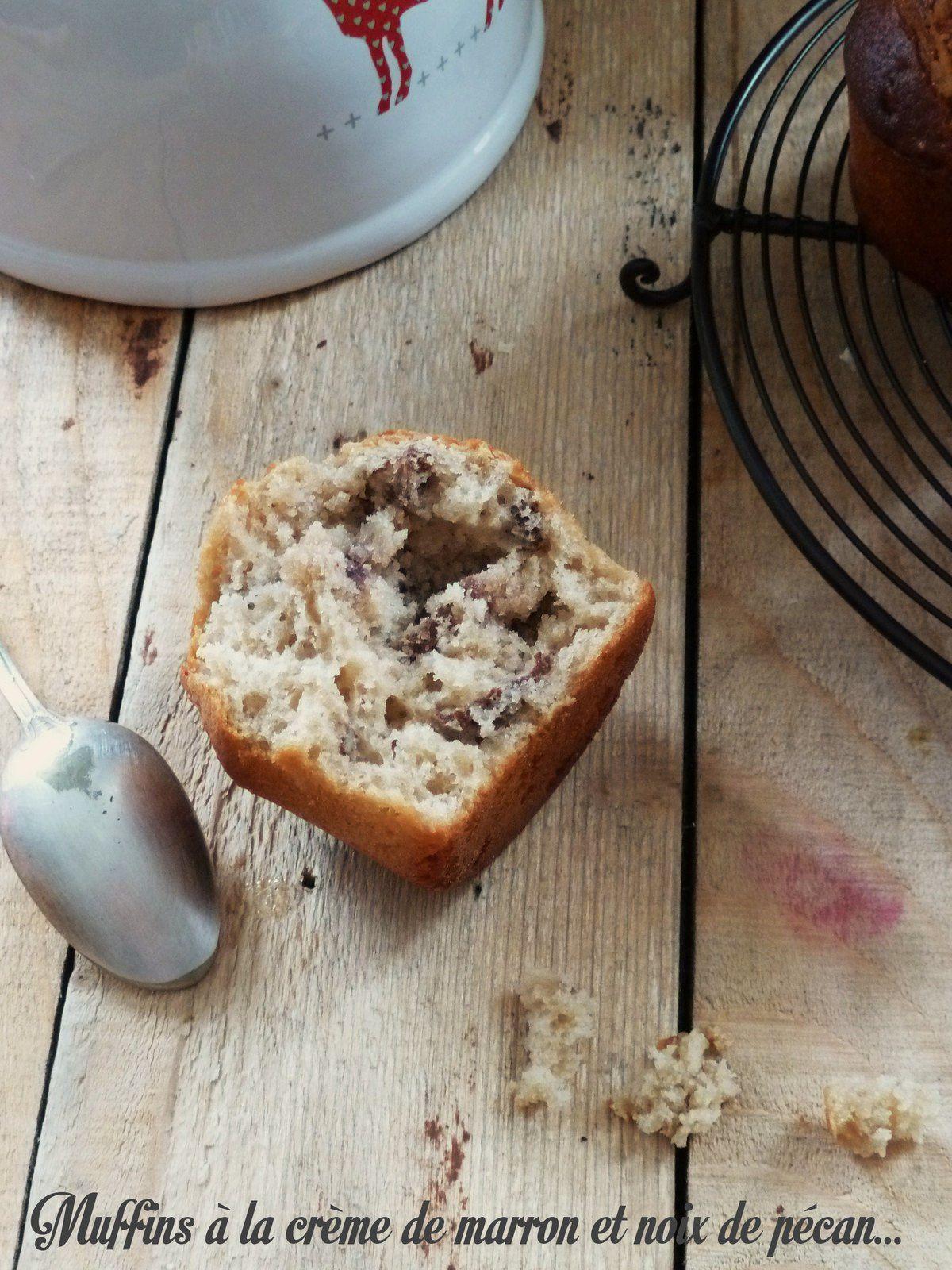 Muffins crèmes de marron et noix de pécan