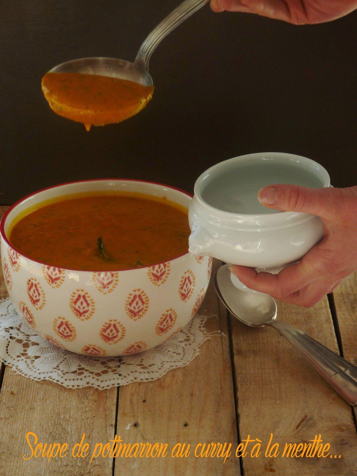 Velouté de potimarron au curry et à la menthe
