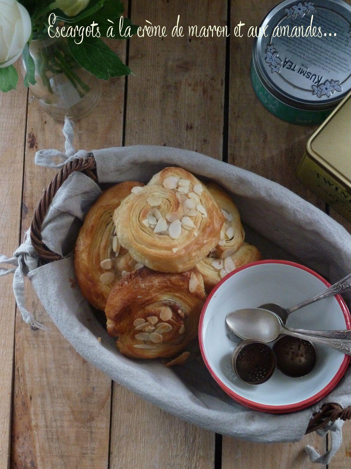 Escargots à la crème de marron et aux amandes
