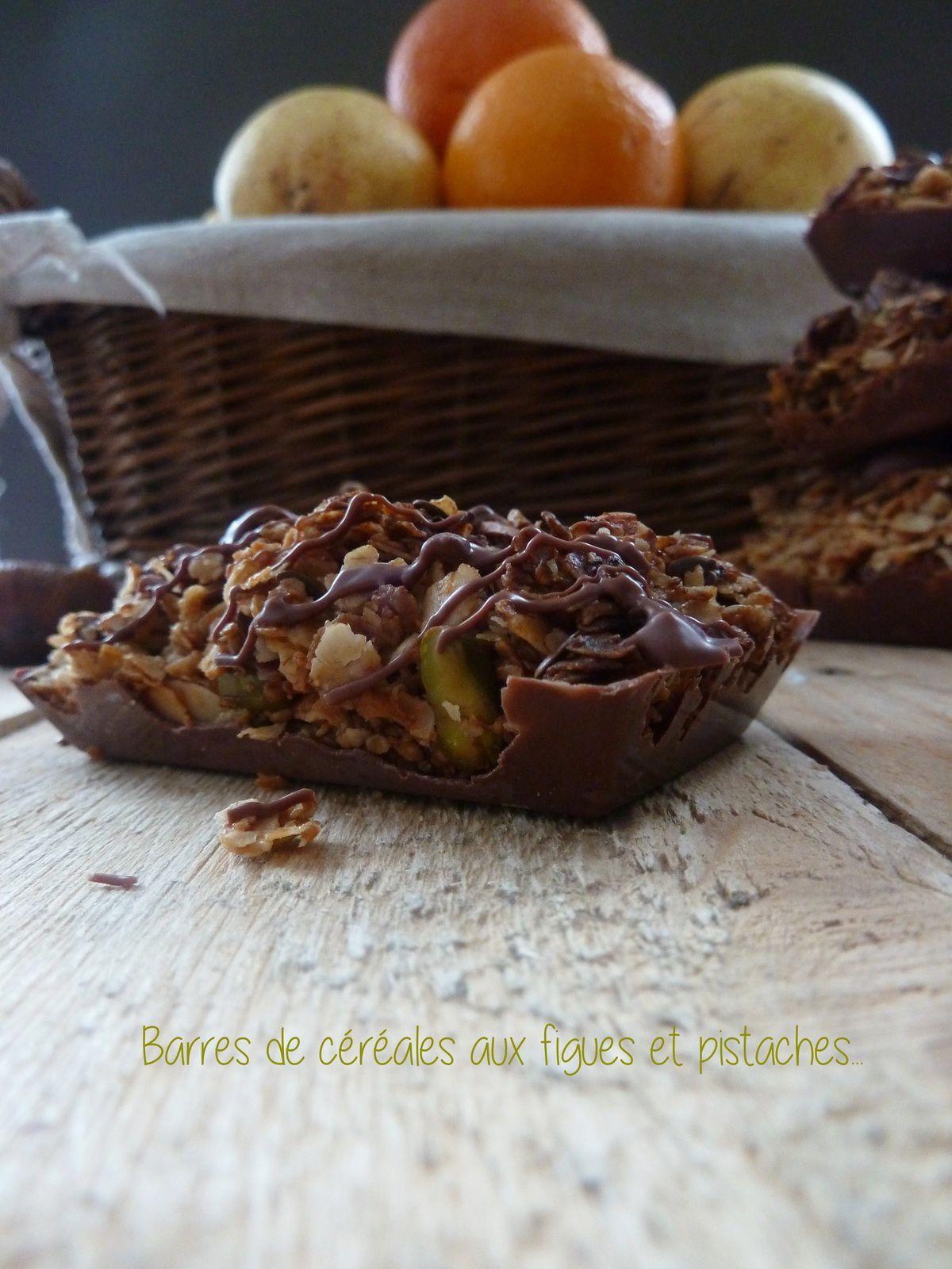 Barres de céréales aux figues et pistaches