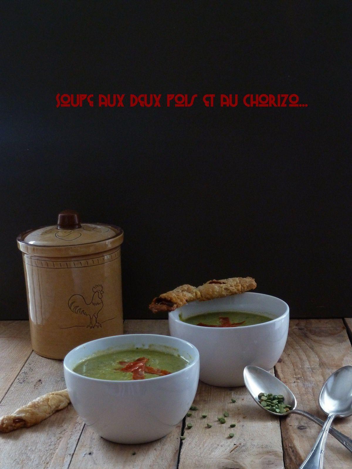 Soupe aux deux pois et au chorizo
