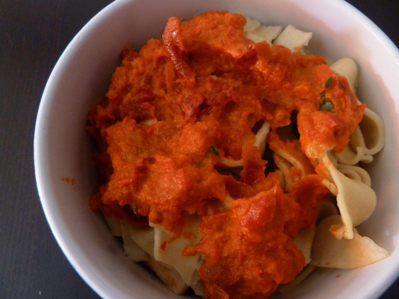 sauce poivron-tomates séchées