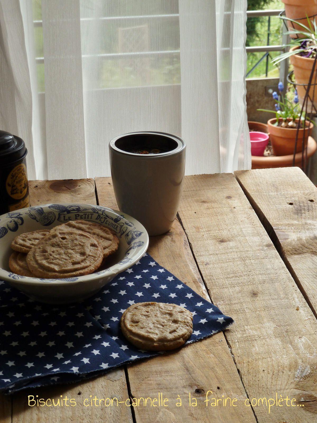 Biscuits citron-cannelle à la farine complete