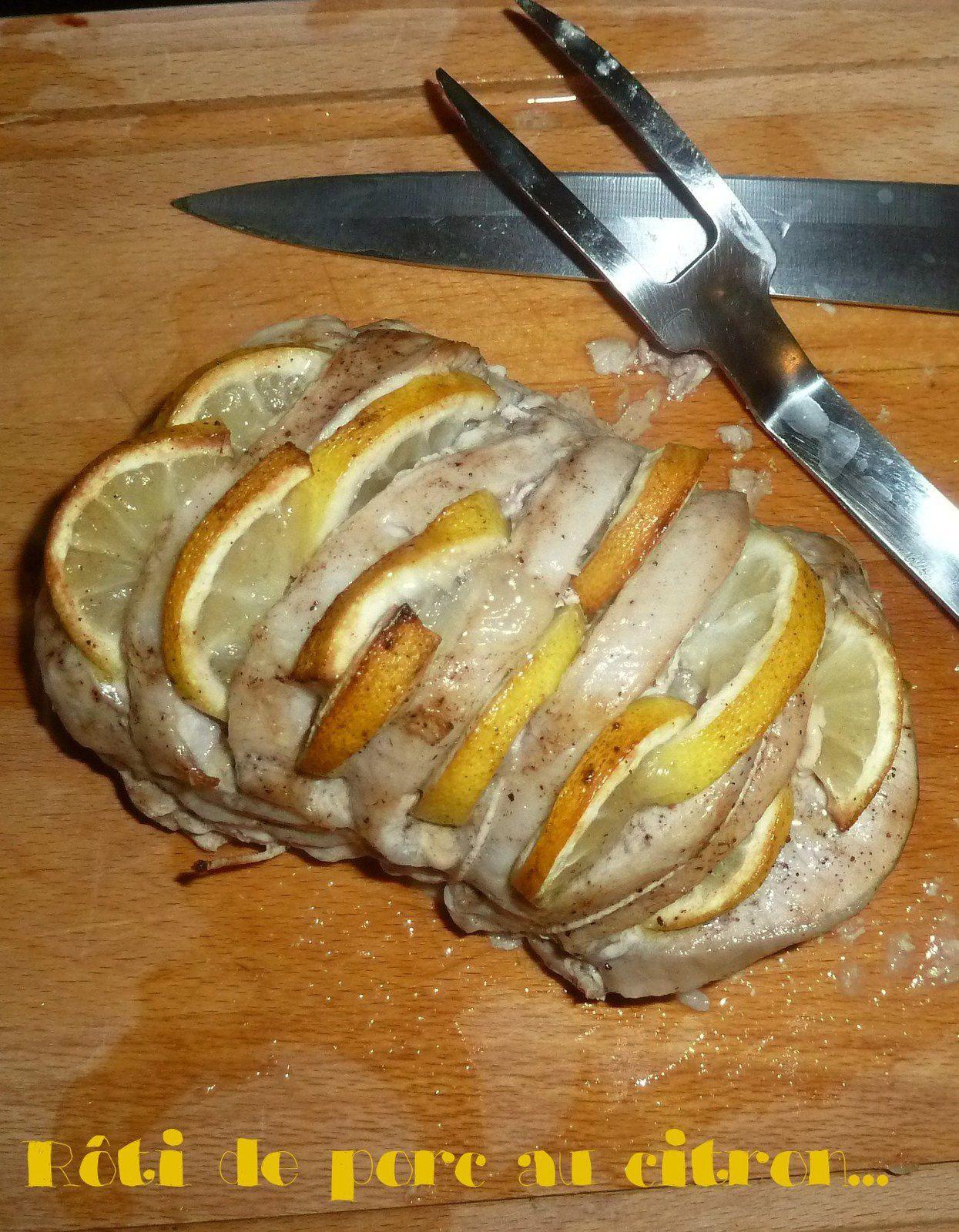 Rôti de porcs au citron et 4 epices