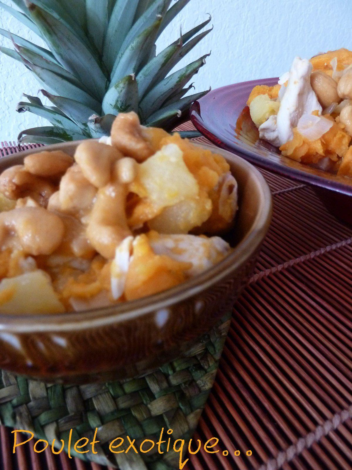 Poulet ananas et patates douce