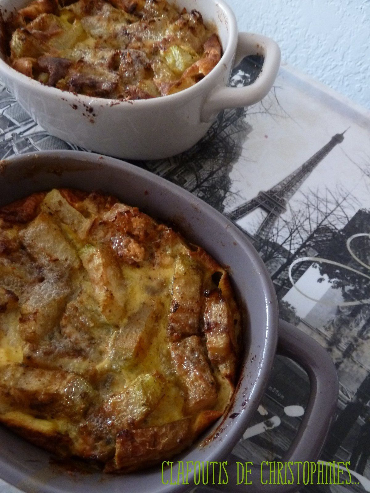 Clafoutis de christophine au curry et au roquefort