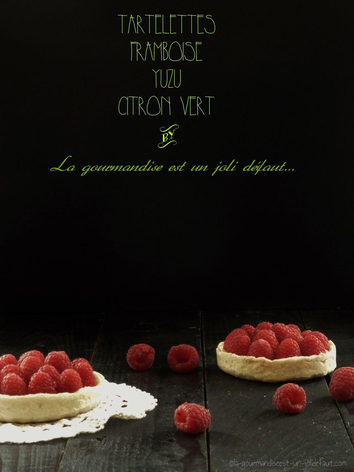 Tartelettes aux framboises, citron vert et yuzu
