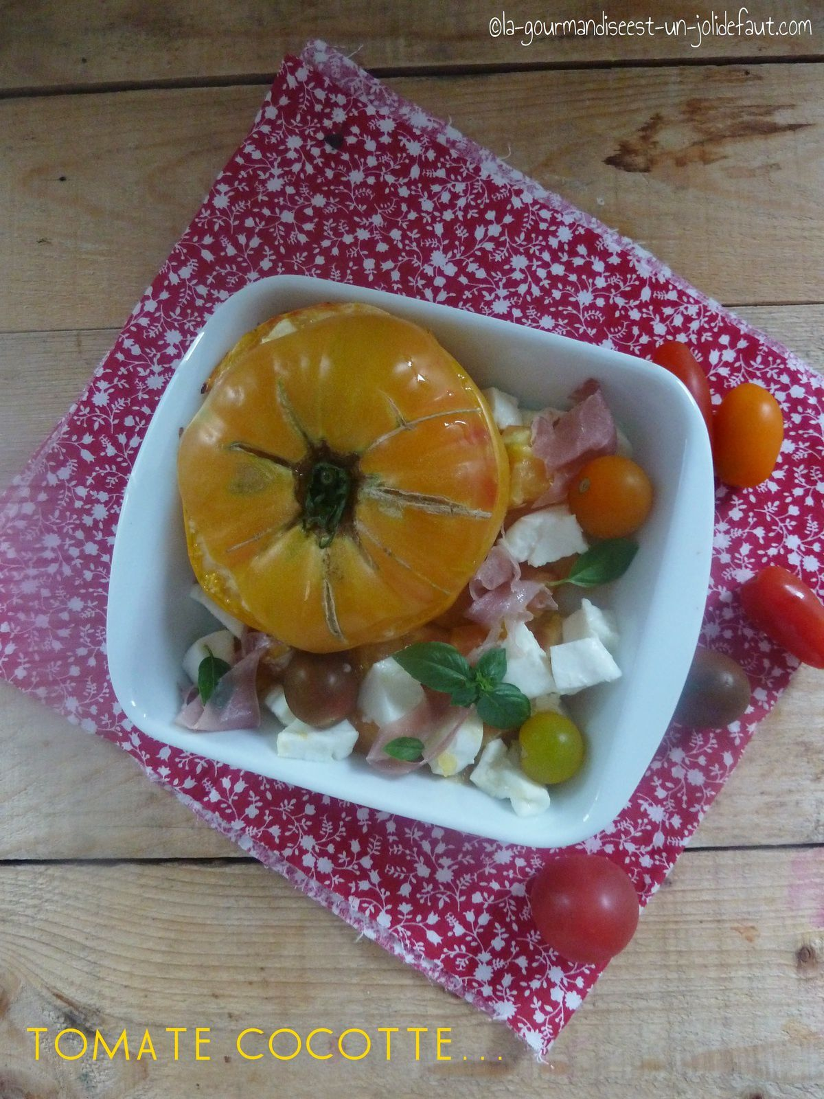 Tomate cocotte caprese en chaud froid