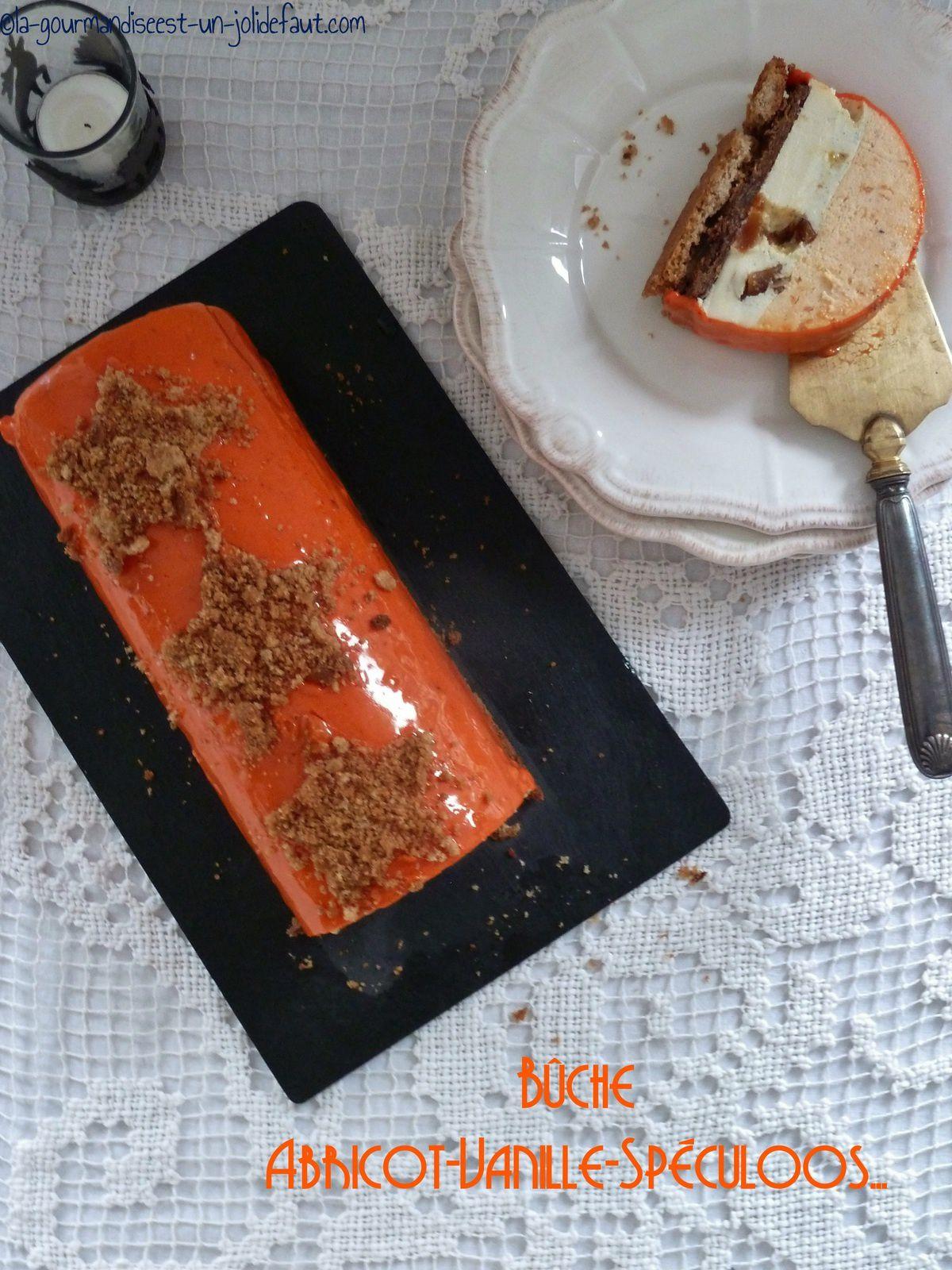 Bûche abricot-vanille-spéculoos