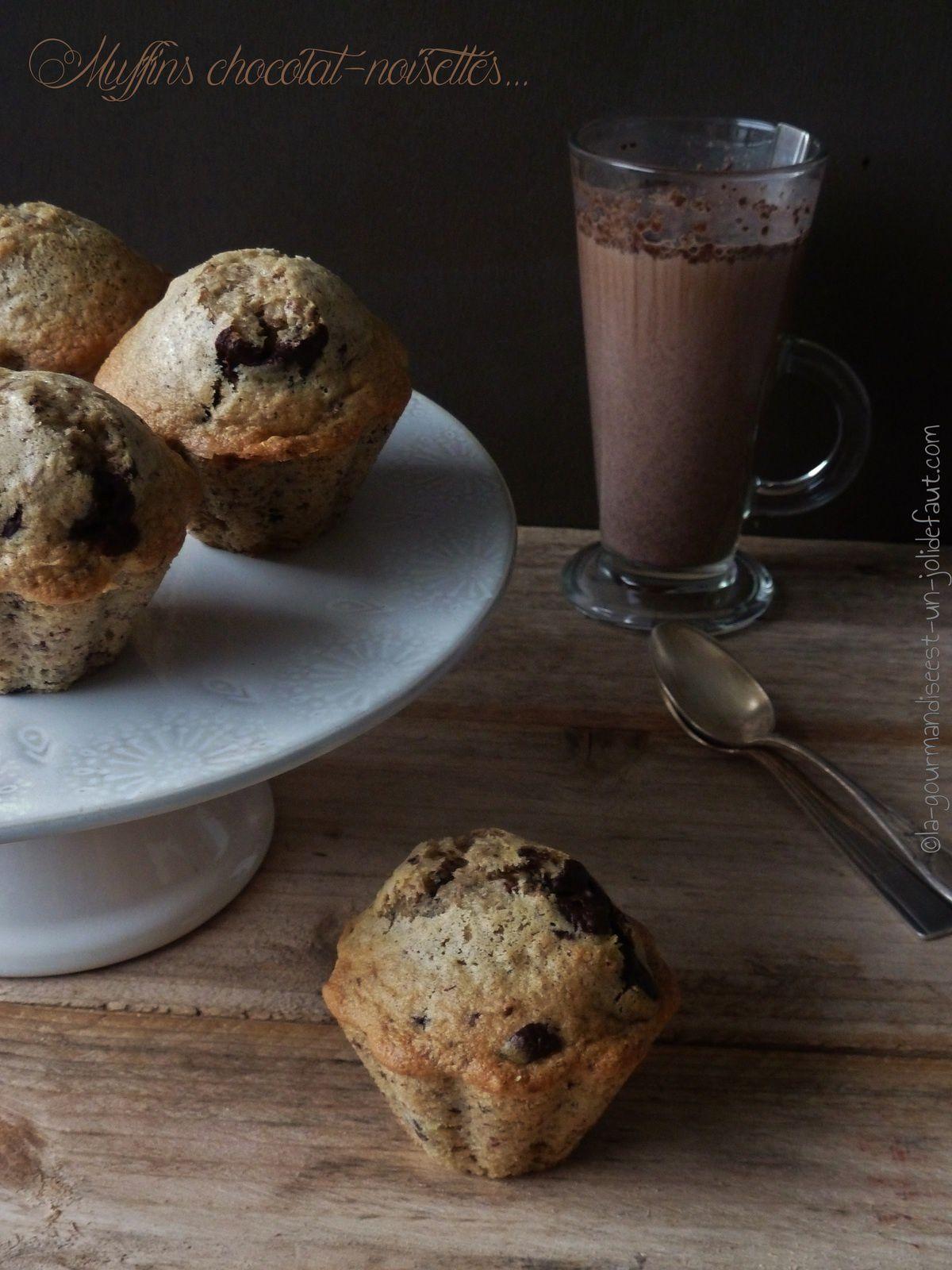 muffins noisettes chocolat au lait de noisette