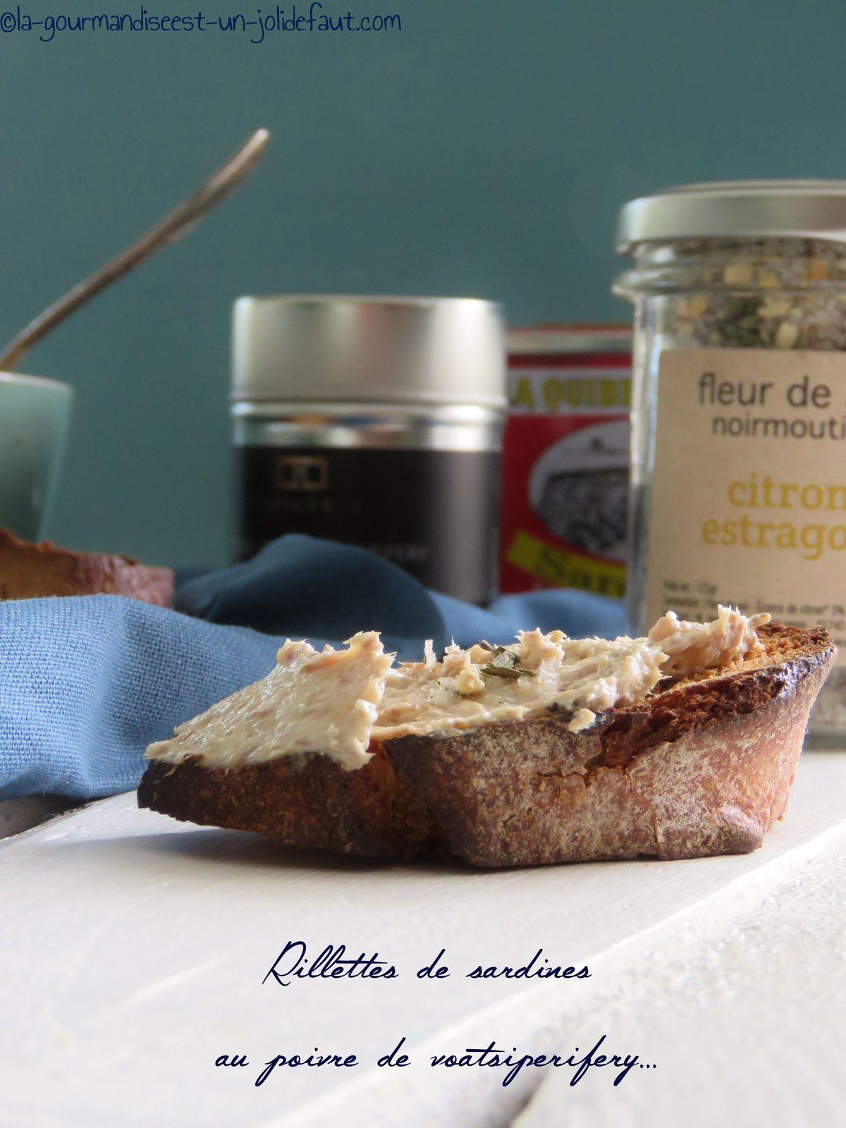 Rillettes de sardines au poivre de Voatsiperifery