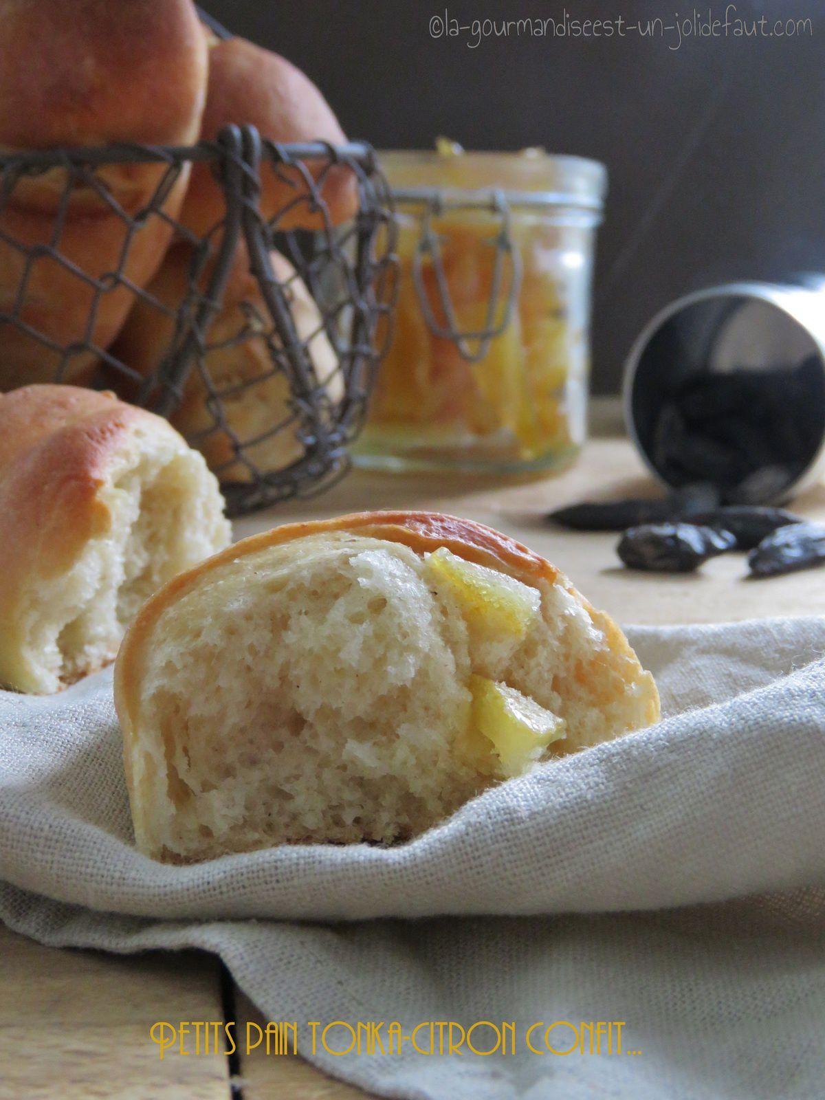Petits pains au citron confit et à la fève tonka