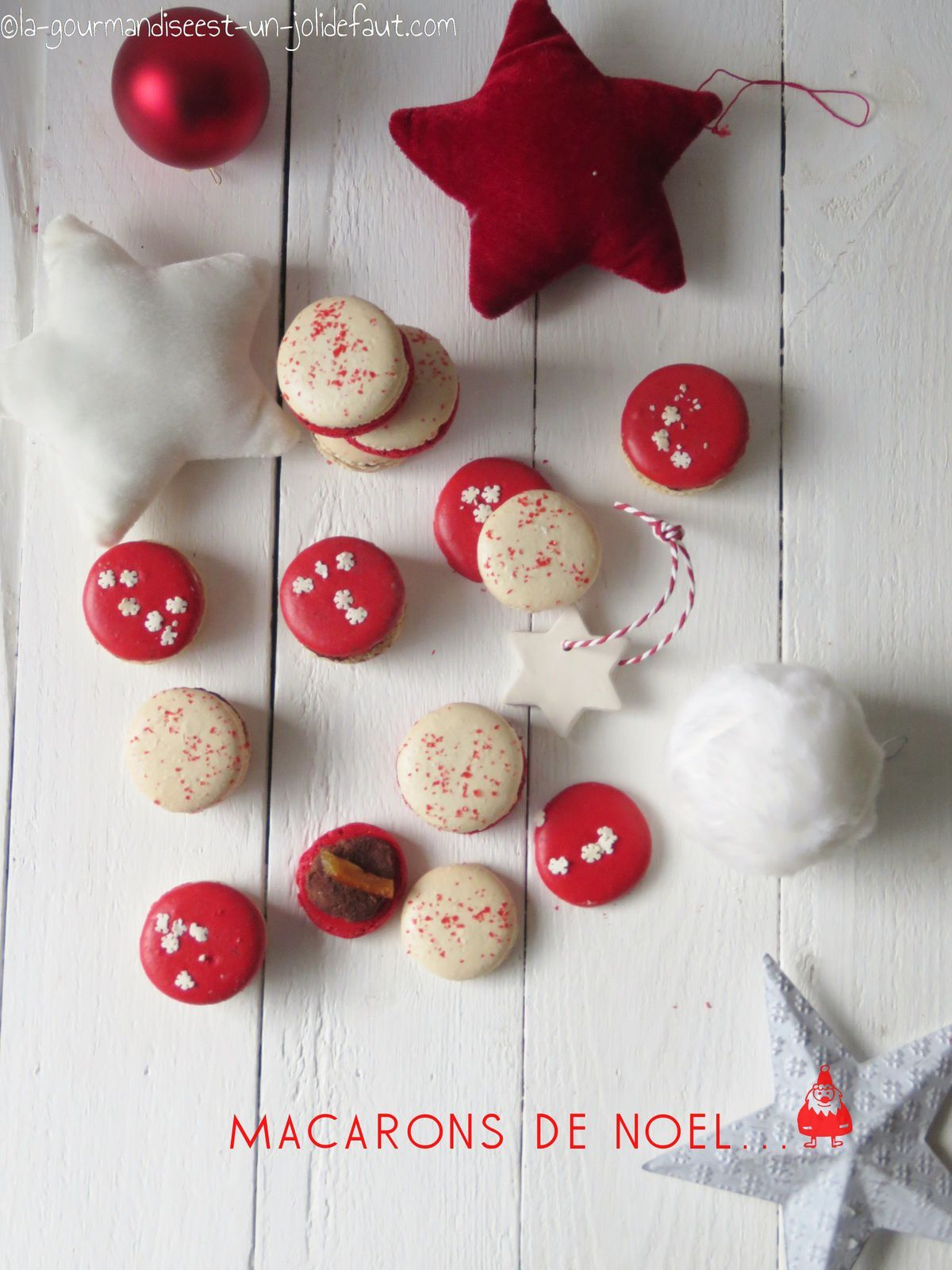Macarons de noël {orange-pain d'épice}
