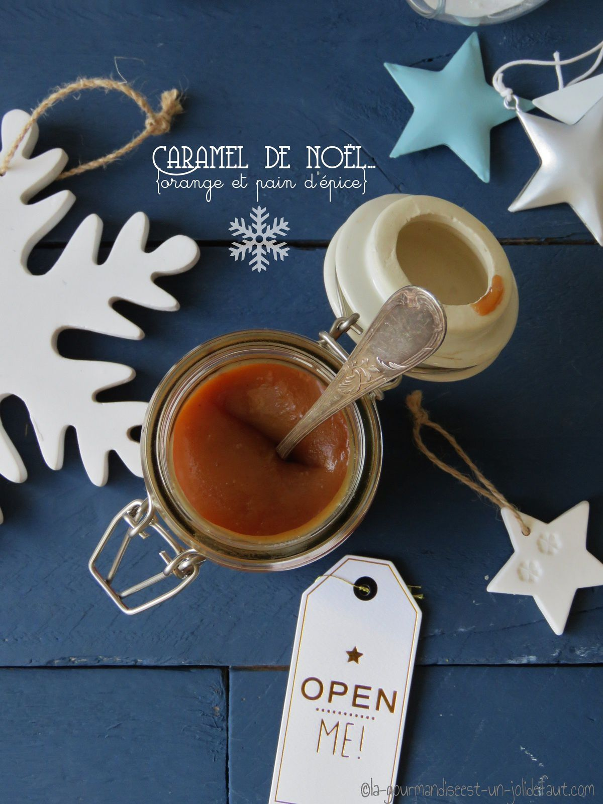 Caramel de noël {orange et épices à pain d'épice}