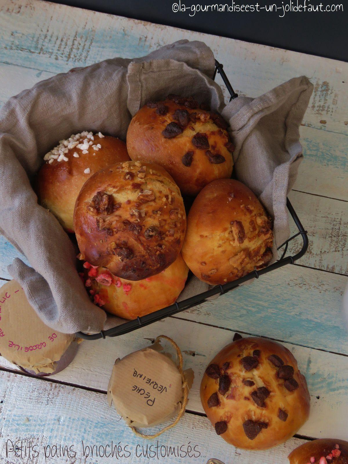 Petits pains briochés customisés