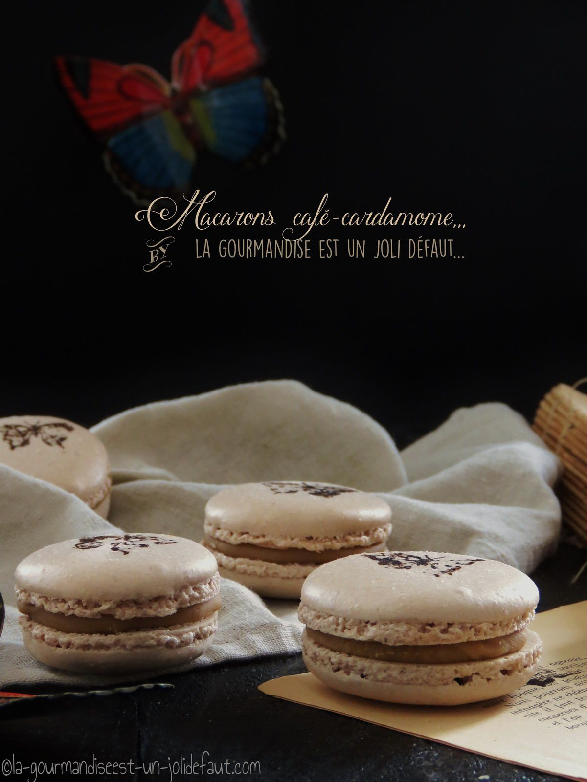 Macarons café-cardamome +bonus trop mimi