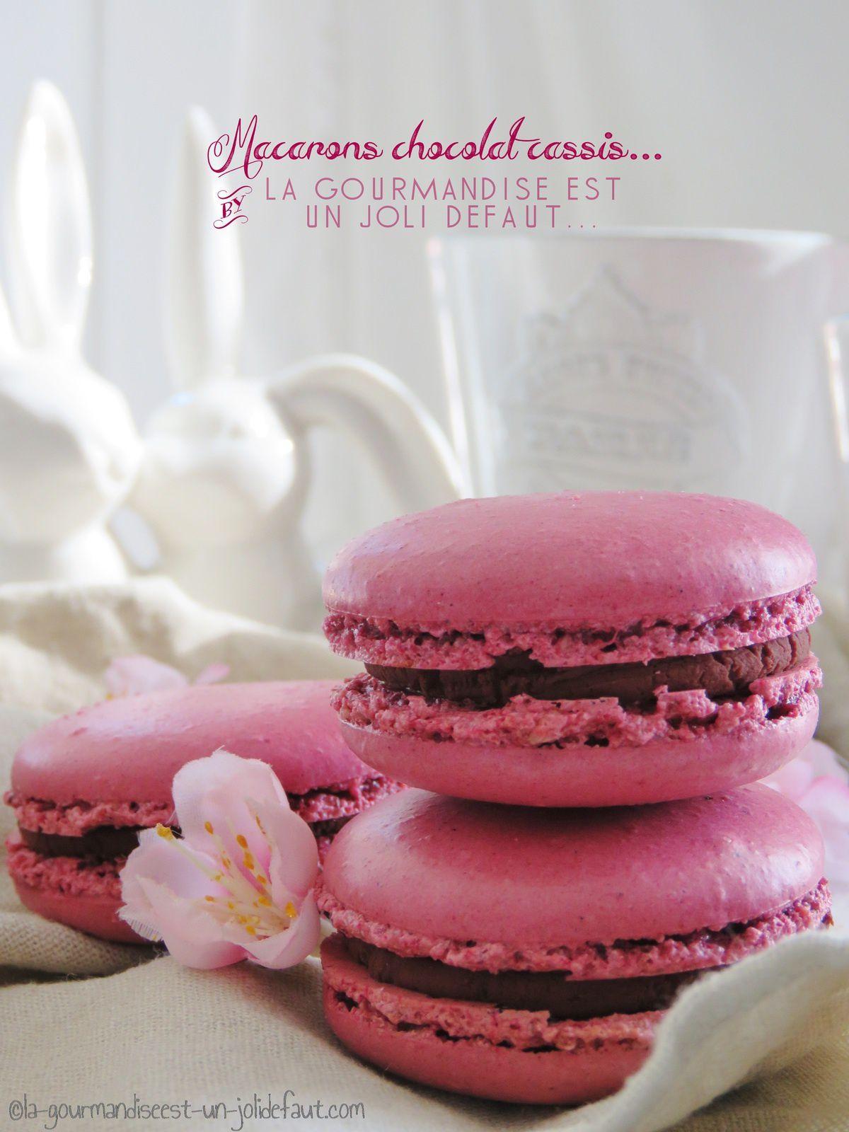 Macarons chocolat-cassis