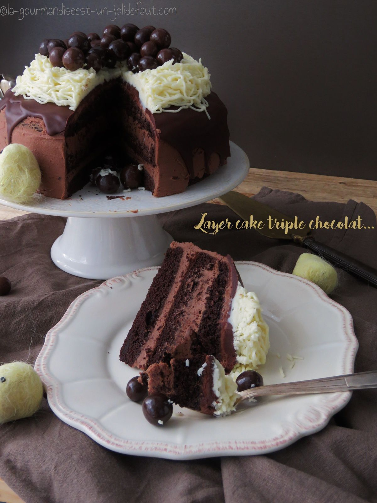 Layer cake triple chocolat