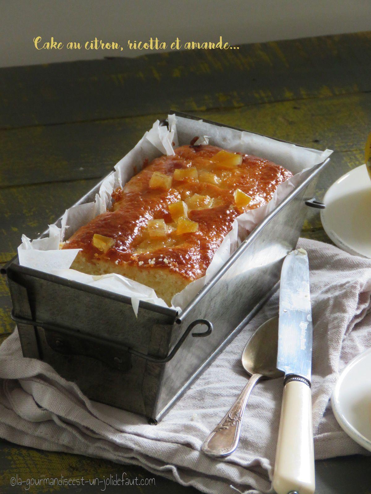 Cake au citron à la ricotta et aux amandes