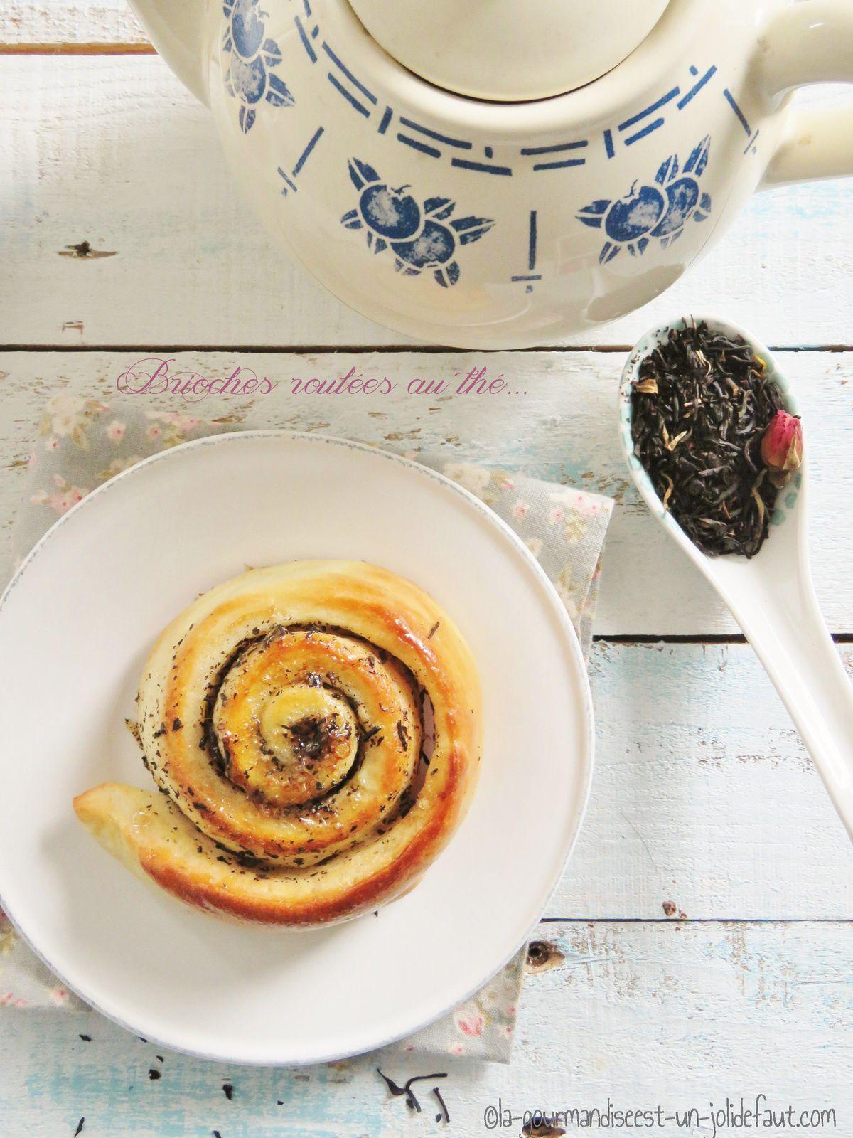 Briochettes roulées au thé