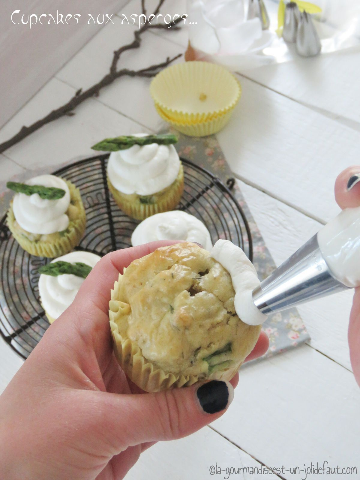 Cupcakes aux asperges
