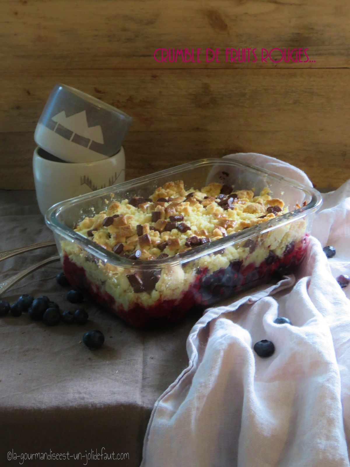 Crumble de fruits rouges