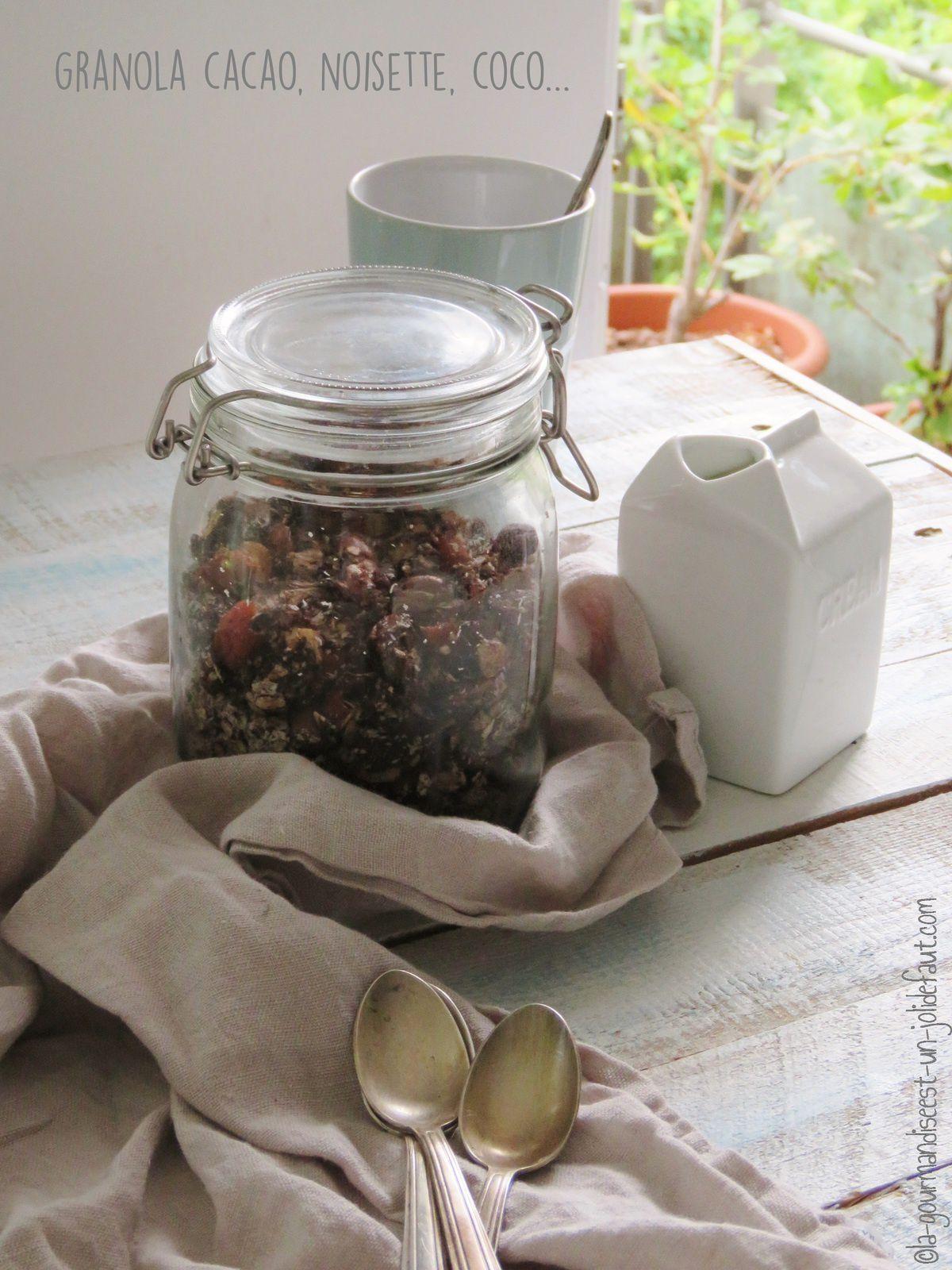 Granola cacao-noisette-coco