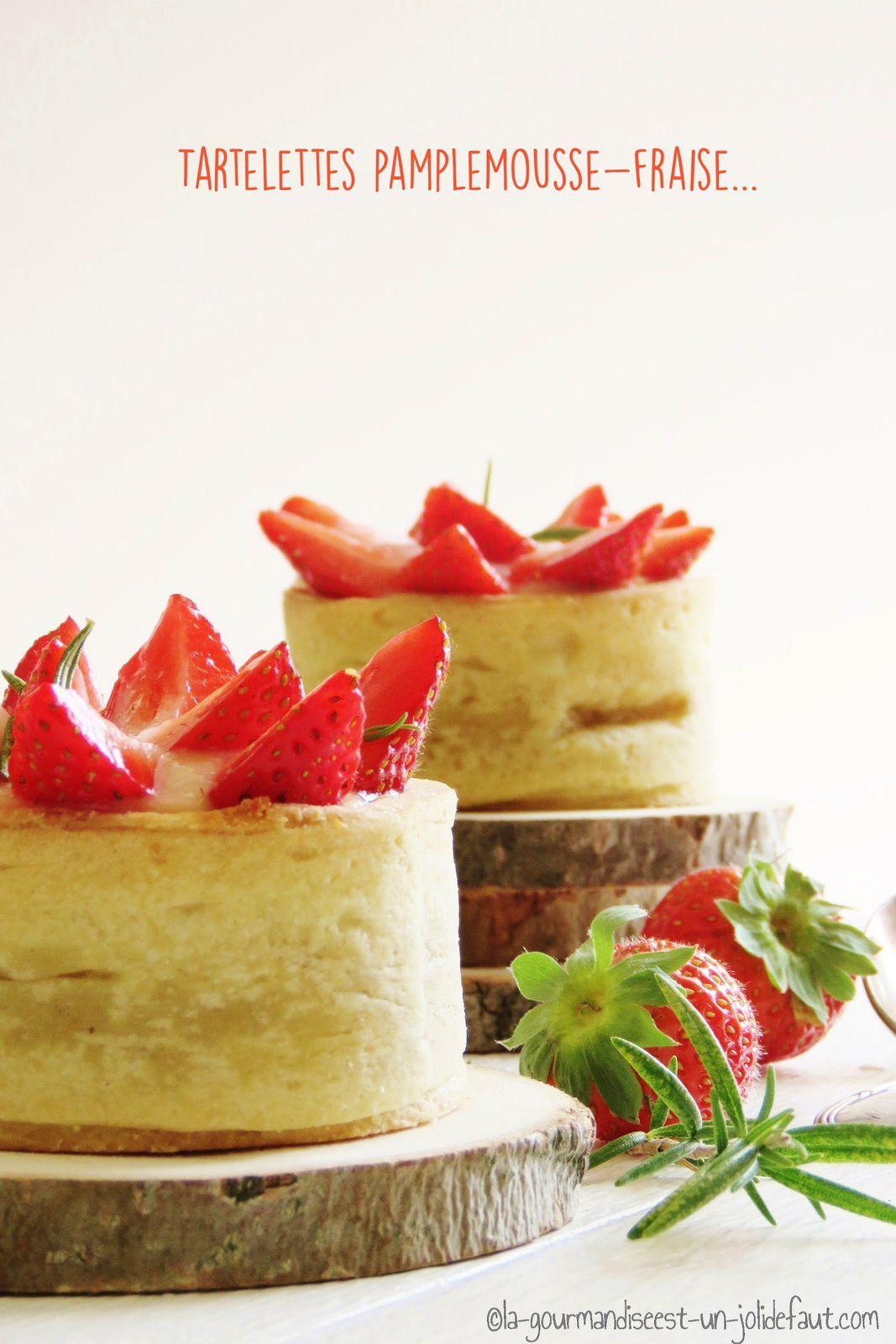 Tartelettes pamplemousse-fraise
