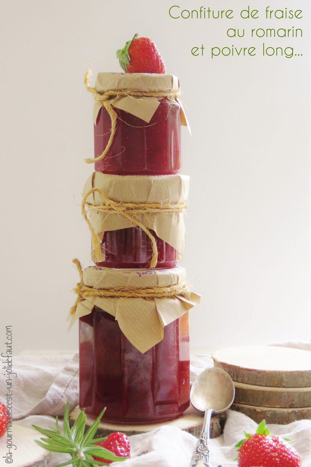 Confiture de fraise au poivre long et romarin