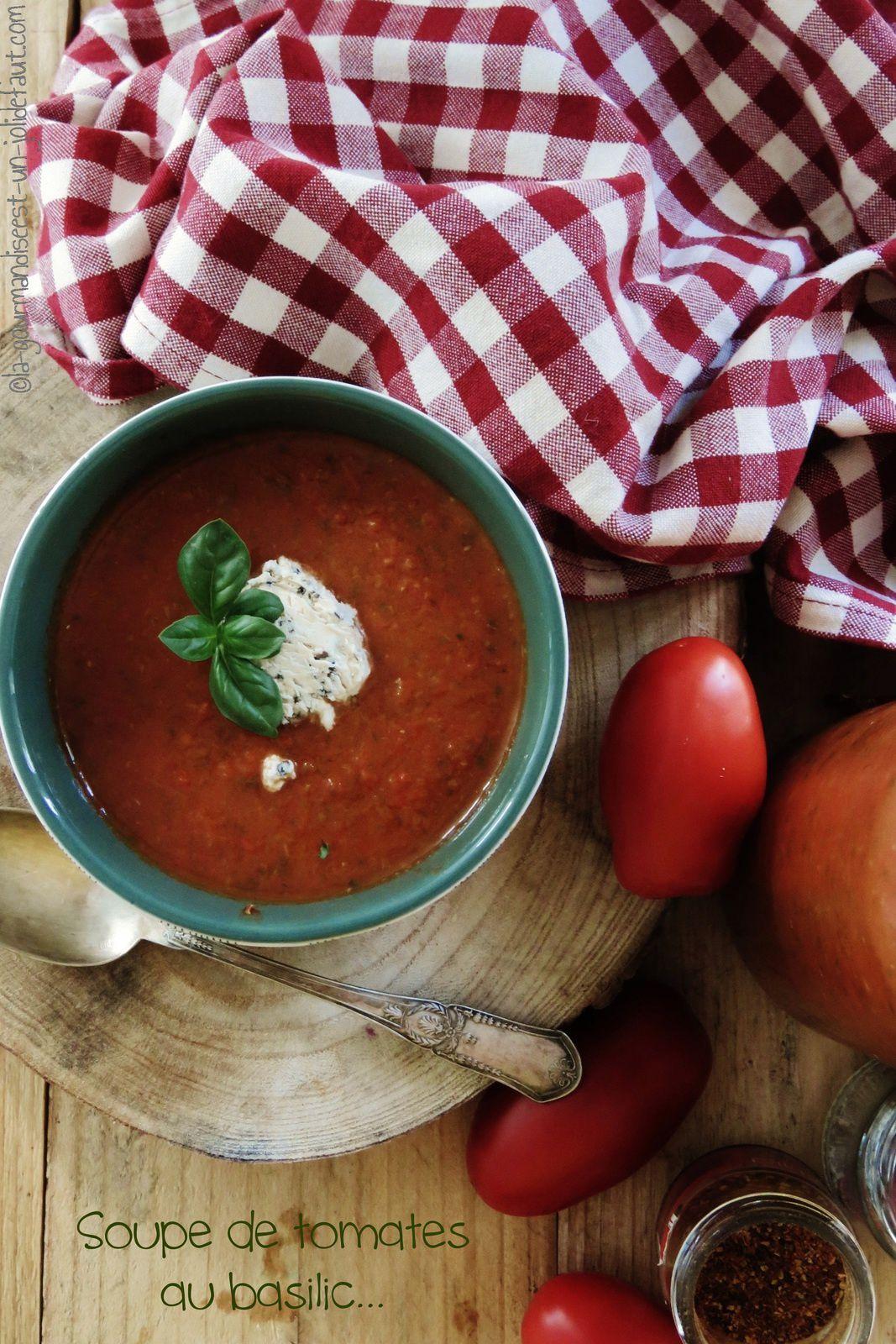 Soupe de tomate au basilic et céleri