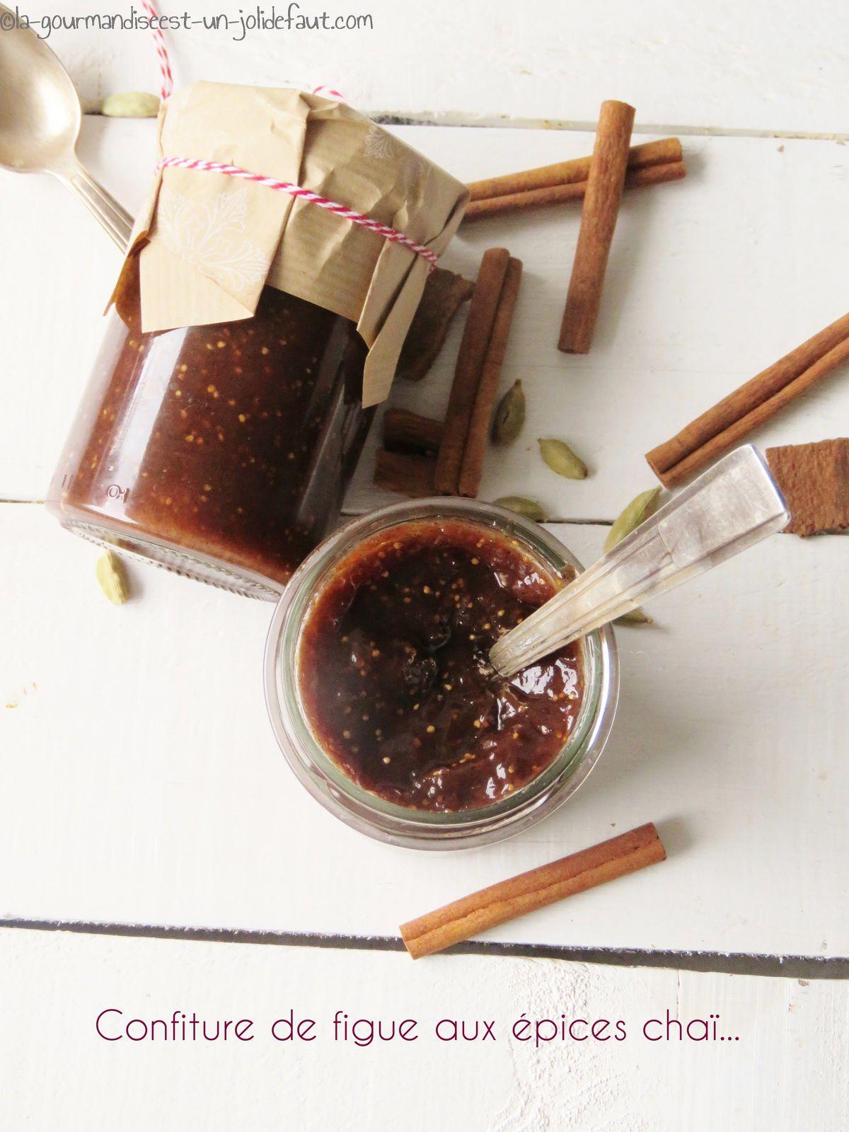 Confiture de figue aux épices chaï