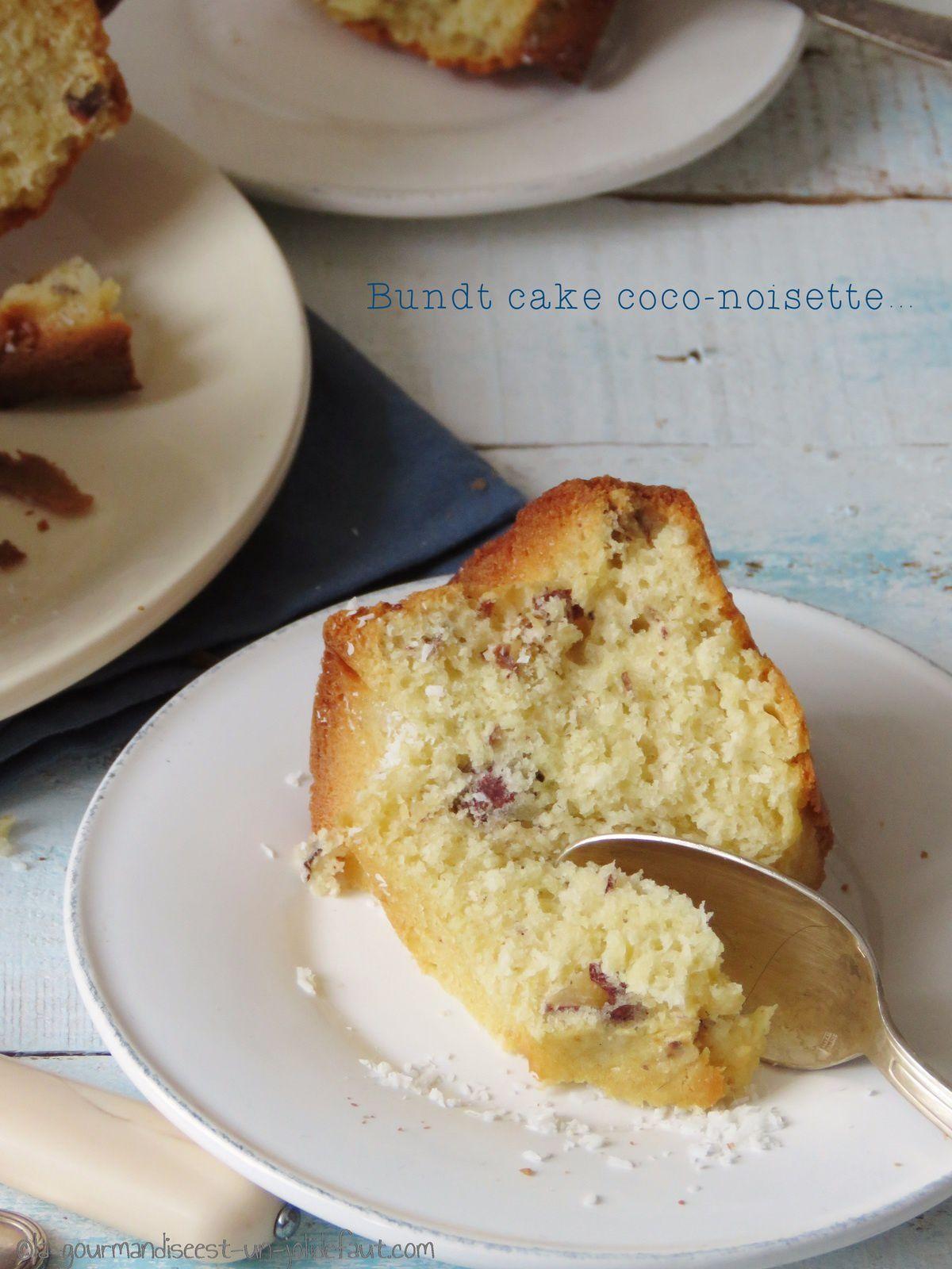 Bundt cake coco-noisette