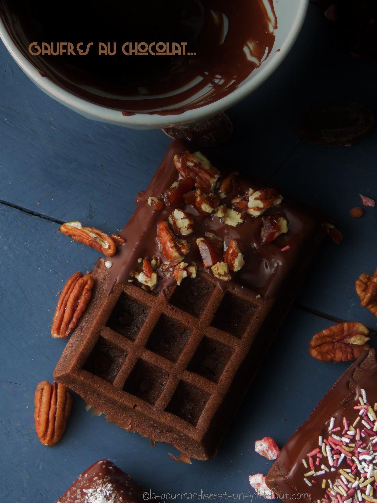 Gaufres au chocolat {et comment les rendre encore plus gourmandes}