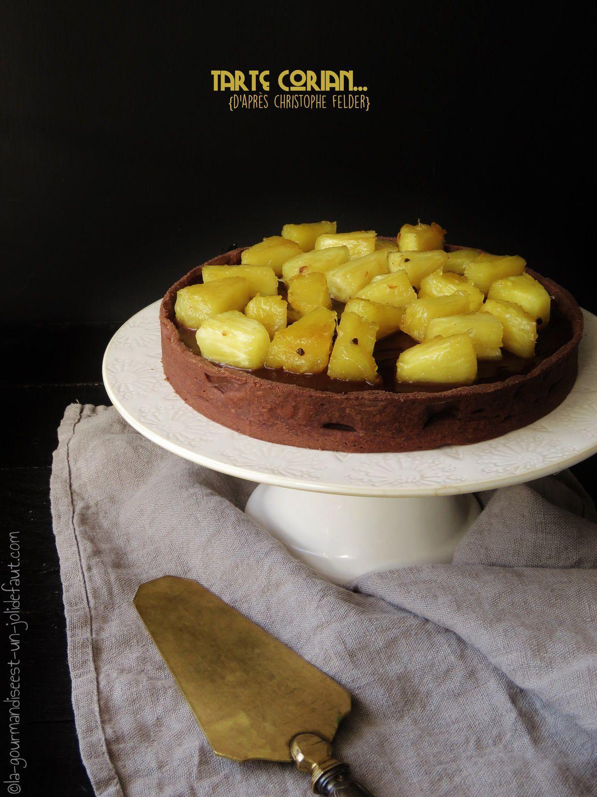 Tarte Corian {chocolat-ananas-coriandre}